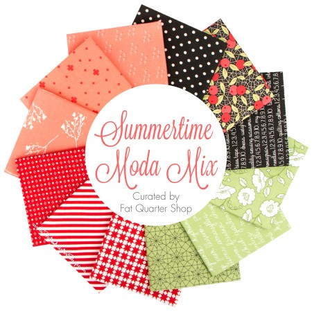 February Favorite at The Crafty Quilter: Summertime Moda Mix fabric at Fat Quarter Shop