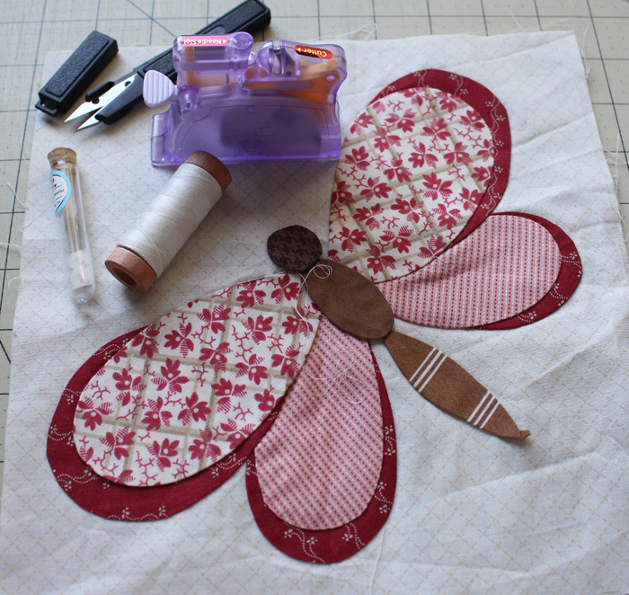 Butterfly applique @ The Crafty Quilter