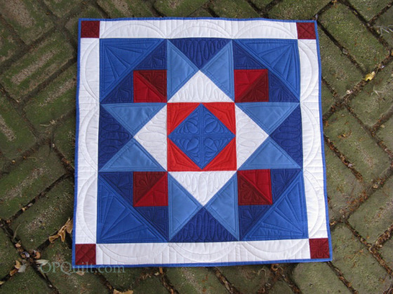 Red, White & Blue Star by Elizabeth @ Occasional Piece Quilt