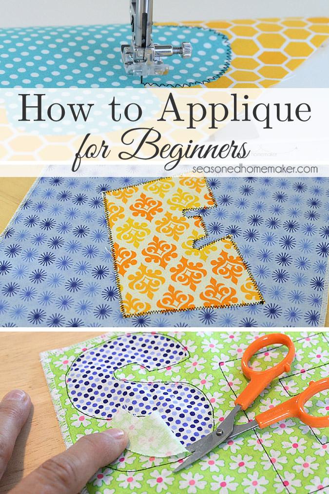 How to Applique for Beginners @ Seasoned Homemaker