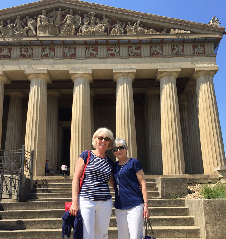 Julie and Sandy at the Parthenon in Nashville