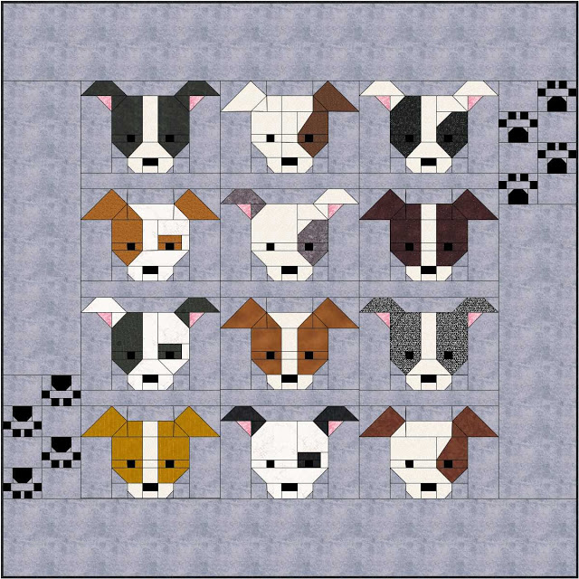 Dog Gone Cute quilt pattern by Lorna @ Sew Fresh Quilts