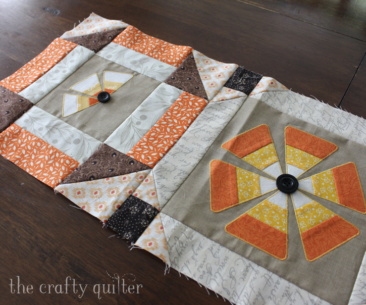Candy corn flowers applique - The Crafty Quilter : candy corn quilt - Adamdwight.com