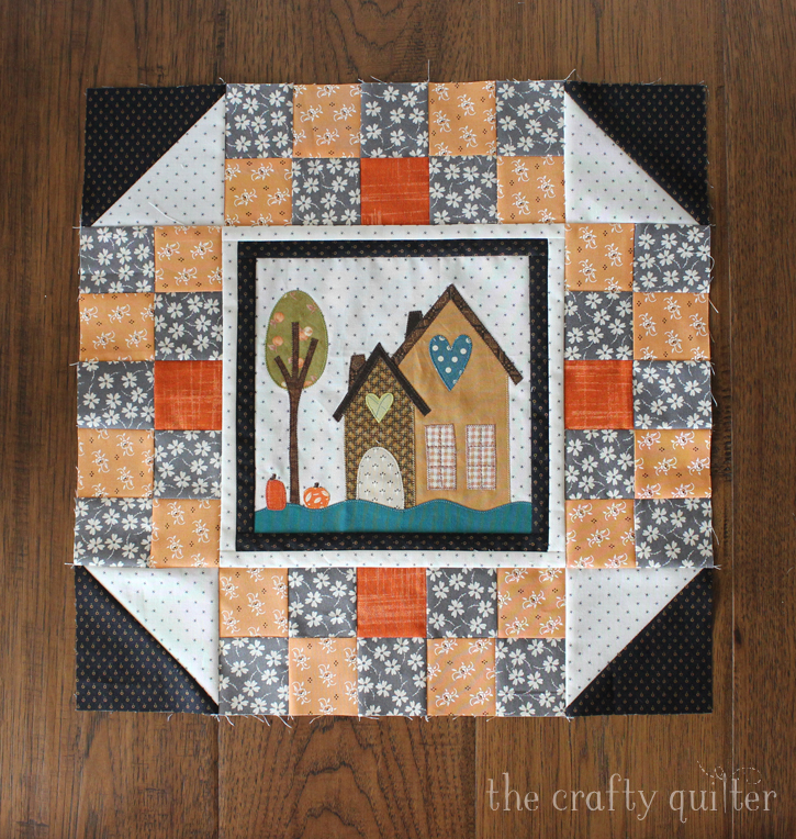 I Love Home BOM, month 2. Made by Julie Cefalu and designed by Jacquelynne Steves