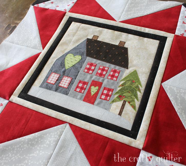 Jacquelynne Steve's I Love Home BOM Month 3, block made by Julie Cefalu