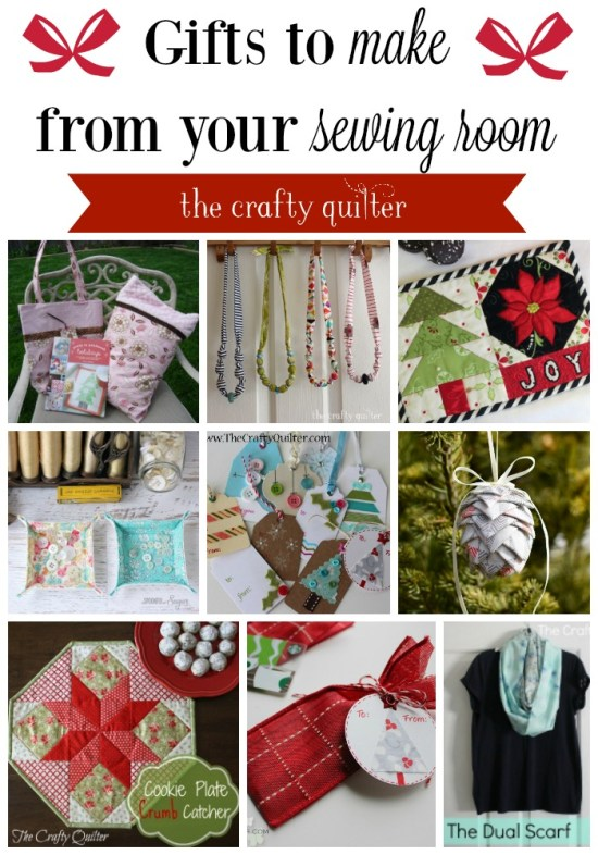 Gift ideas to make and give from your sewing room @ The Crafty Quilter