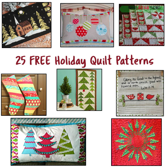 25 Free Holiday Quilt Patterns @ Free Motion by the River