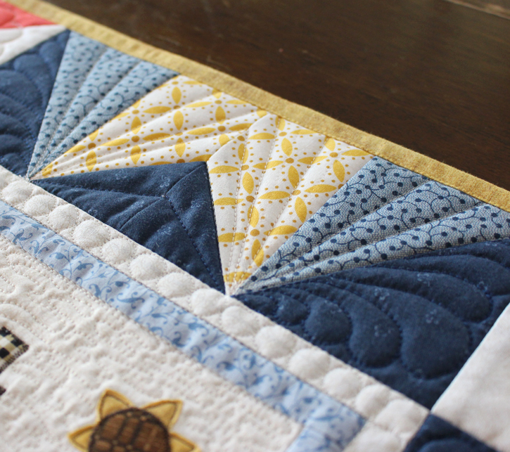 I Love Home BOM by Jacquelynne Steves, Interpreted as Four Seasons of mini quilts by Julie Cefalu @ The Crafty Quilter