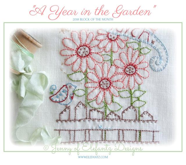 A Year In the Garden BOM by Jenny of Elefantz Designs