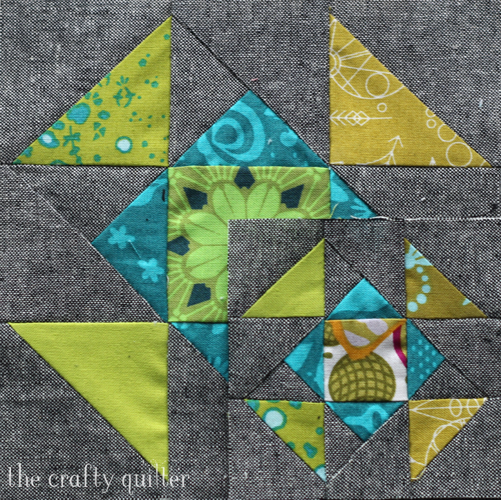 """6 1/2"""" block and 3 1/2"""" block made by Julie Cefalu, designed by Cheryl Brickey for the Quilter's Planner"""