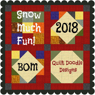 Snow Much Fun 2018 BOM @ Quilt Doodle Doodle Designs