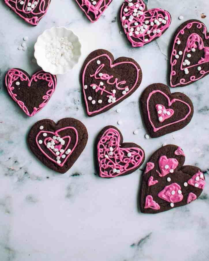 Chocolate Sugar Cookies by Jenn @ Foodess