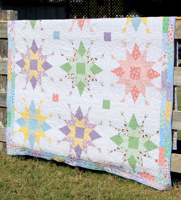 Franklin Star Quilt made and quilted by Audrey Crawford