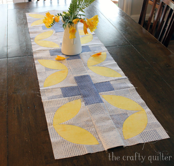 Table runner made by Julie Cefalu from the book, Modern Plus Sign Quilts.