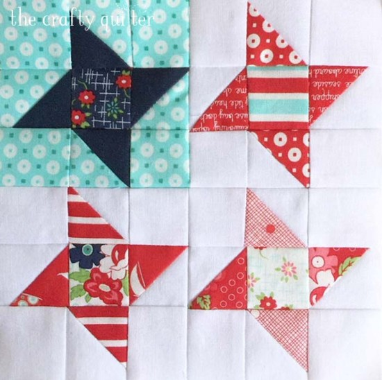 Guiding Star block made by Julie Cefalu. Pattern from The Patchsmith's Sampler Blocks book