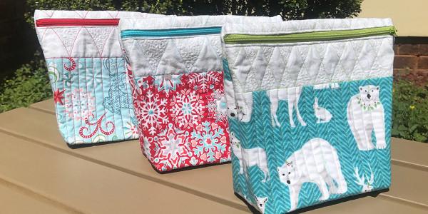 Zippered Rulerwork Bags @ We All Sew