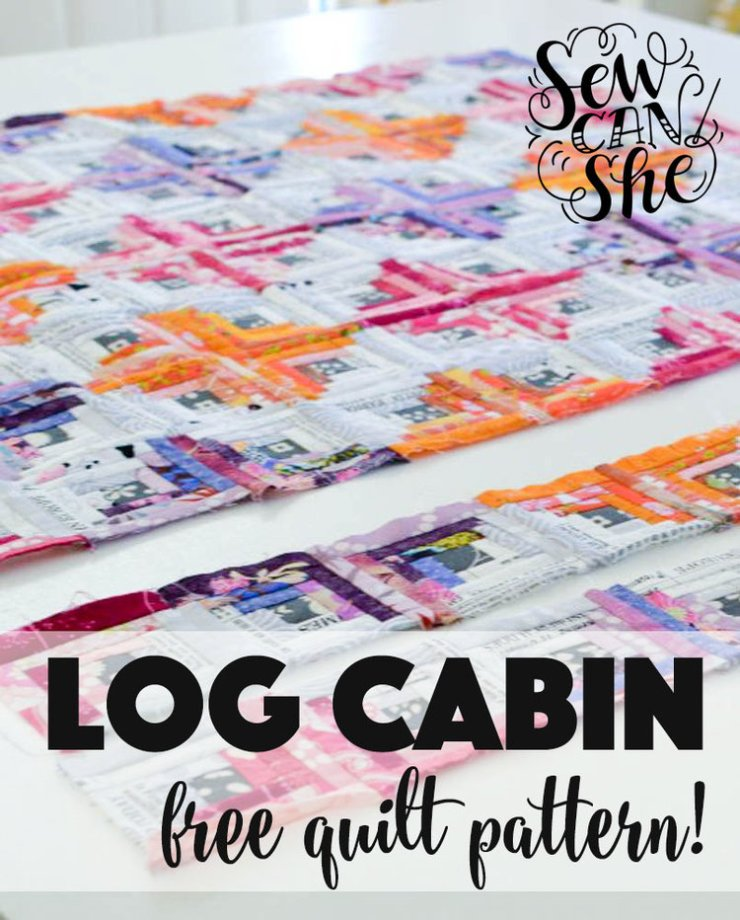 Log Cabin Free Quilt Pattern @ Sew Can She