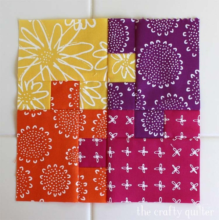 Wednesday WIP (work in progress) @ The Crafty Quilter. Jigsaw block from The Patchsmith, made by Julie Cefalu