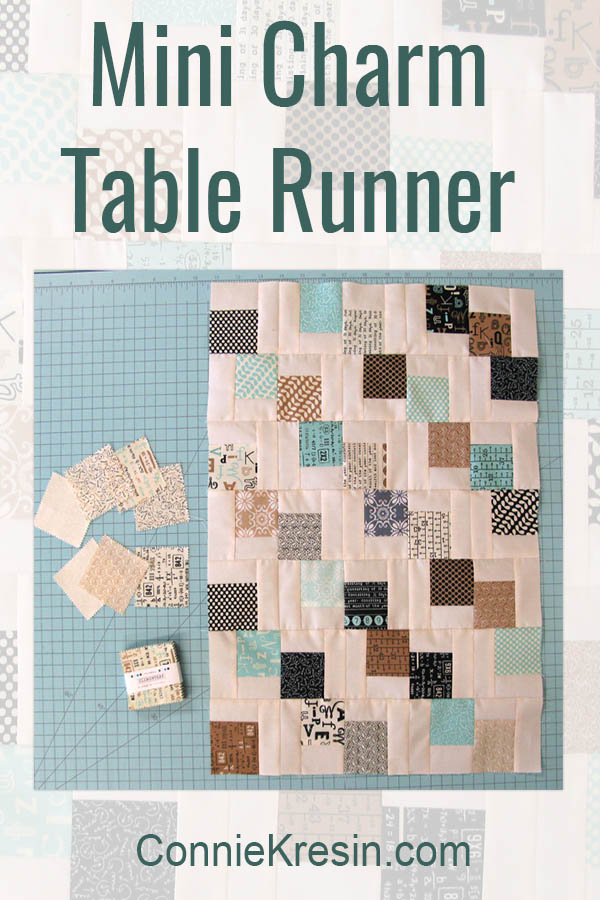 Mini Charm Table Runner @ Free Motion by the River