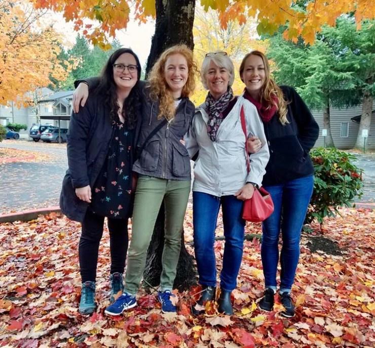 Makayla, Nicole, Julie and Sara, 2018, in Everett Washington.