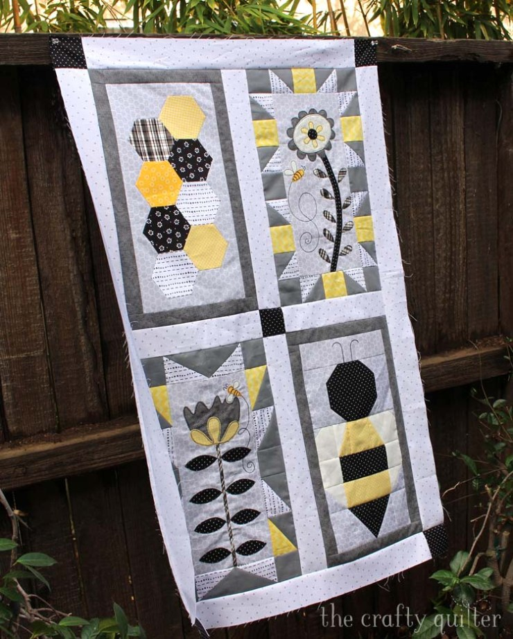 Save The Bees Quilt made by Julie Cefalu @ The Crafty Quilter