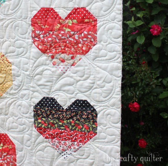 Ombre Heart Quilt sneak peak @ The Crafty Quilter