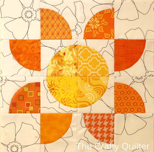 Drunkard's Path Block made by Julie Cefalu @ The Crafty Quilter