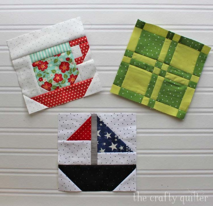 Quilt blocks from The Patchsmith's Sampler Quilt Blocks; made by Julie Cefalu