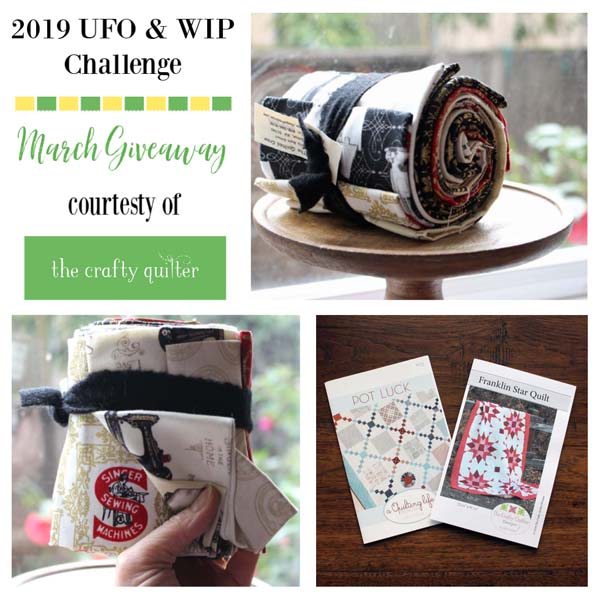 March 2019 UFO & WIP Challenge Giveaway