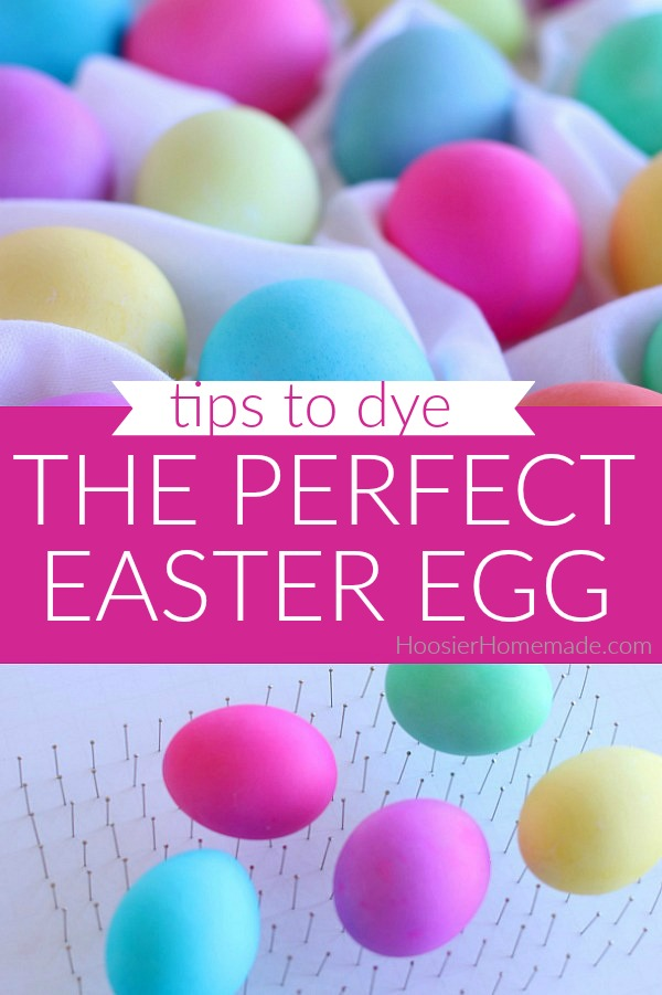 How to Dye the Perfect Easter Egg @ Hoosier Homemade; featured on Sew Thankful Sunday @ The Crafty Quilter