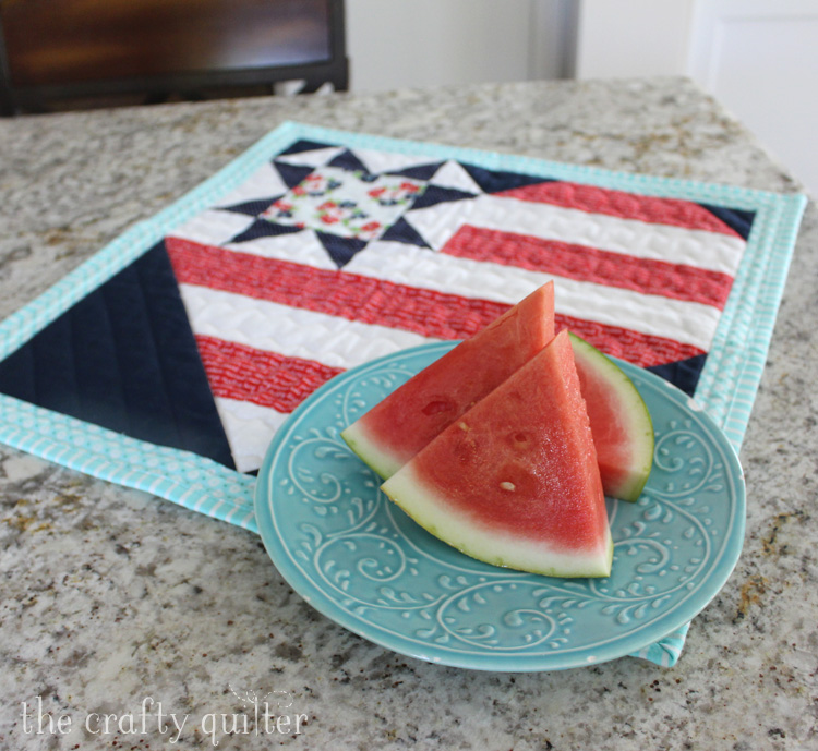 Star Spangled Heart Wall Hanging - pattern by Julie Cefalu @ The Crafty Quilter
