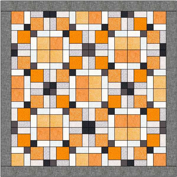 Different layout option by rotating blocks for Disappearing 9-patch quilt at The Crafty Quilter.