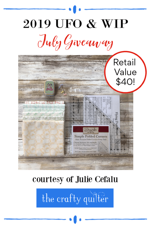 July giveaway prize @ The Crafty Quilter