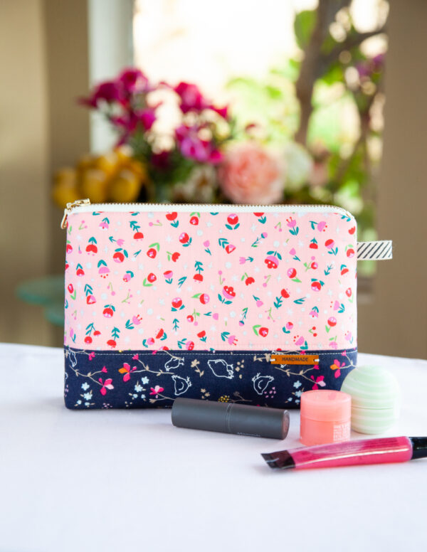 DIY Cosmetic Zipper Pouch by Minki Kim for We All Sew.