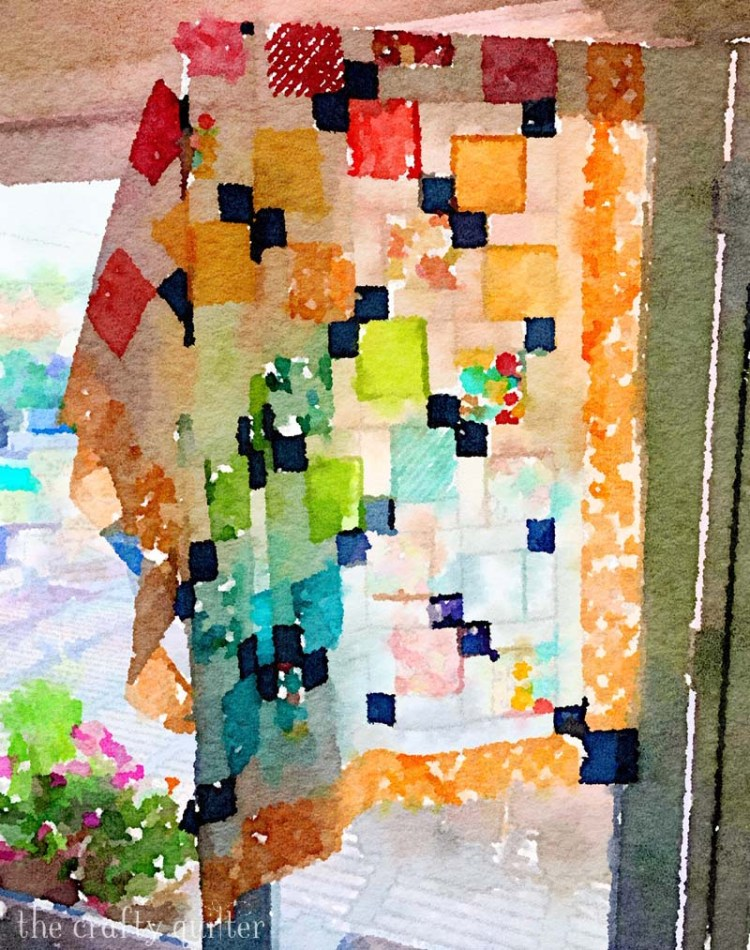 Using the Waterlogue App to create a work of art from a quilt by Julie Cefalu @ The Crafty Quilter