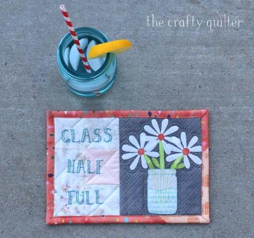 Glass Half Full Mug Rug Tutorial @ The Crafty Quilter