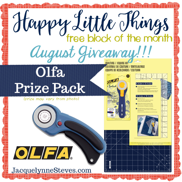 Happy Little Things Giveaway prize for August