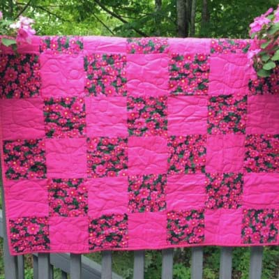 Pink Baby Quilt made by Verna A.