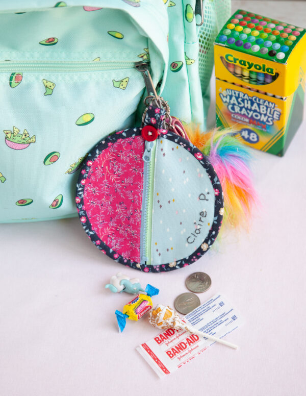 Back to School Mini Purse by Minki Kim for We All Sew and featured on The Crafty Quilter's Sew Thankful Sunday.