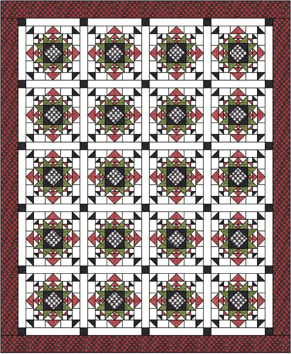 Quilt design by Julie Cefalu @ The Crafty Quilter using EQ8.  Pattern coming soon!
