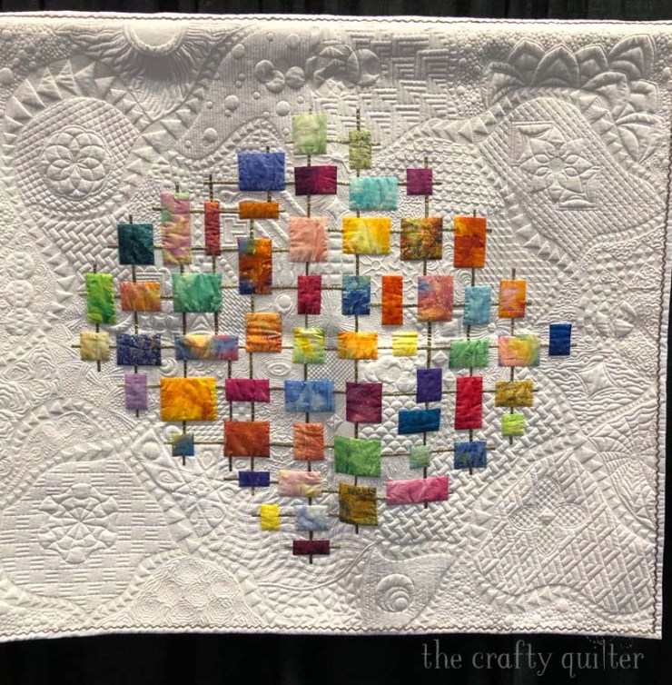 Lanterns by Ramona Frys won Best Sewing Machine Workmanship, Innovative at PIQF 2019.  Photo by Julie Cefalu at The Crafty Quilter.