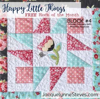 Happy Little Things BOM Block 4 designed by Jacquelynne Steves.