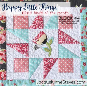 Happy Little Things BOM Block 4 designed by Jacquelynne Steves.
