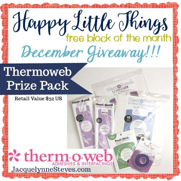 Happy Little Things Border & Finishing instructions with a giveaway sponsored by Thermoweb!