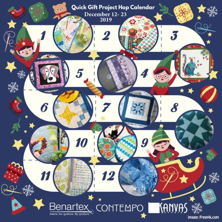 Benartex Quick Gift Project Hop features 12 days of awesome ideas for quick gifts to make.