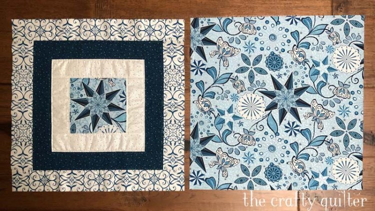 Celestial Snowflake Pillow instructions @ The Crafty Quilter