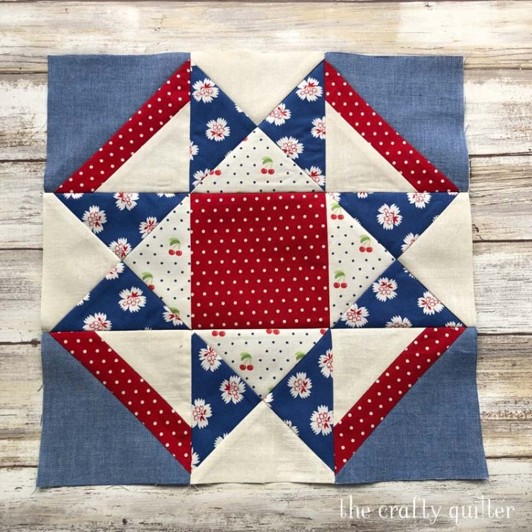 """12"""" Block from the Timeless Tradition BOM pattern by Bits N Pieces.  Made by Julie Cefalu"""