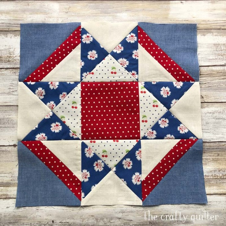 Quilt block from Timeless Tradition BOM pattern by Bits 'n Pieces.  Made by Julie Cefalu.