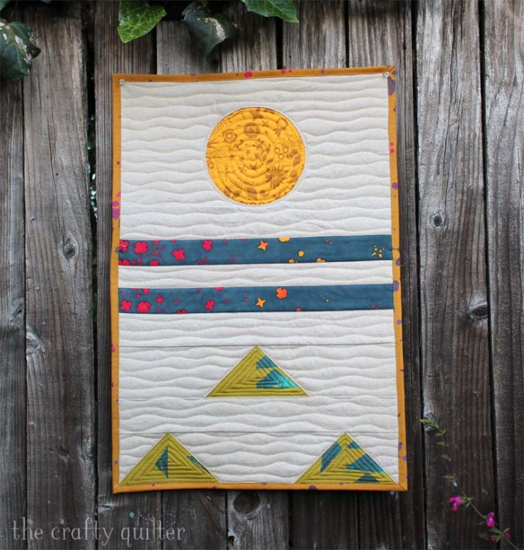 Oregon Crib Quilt made by Julie Cefalu.  Pattern from Simple Geometric Quilting by Laura Preston