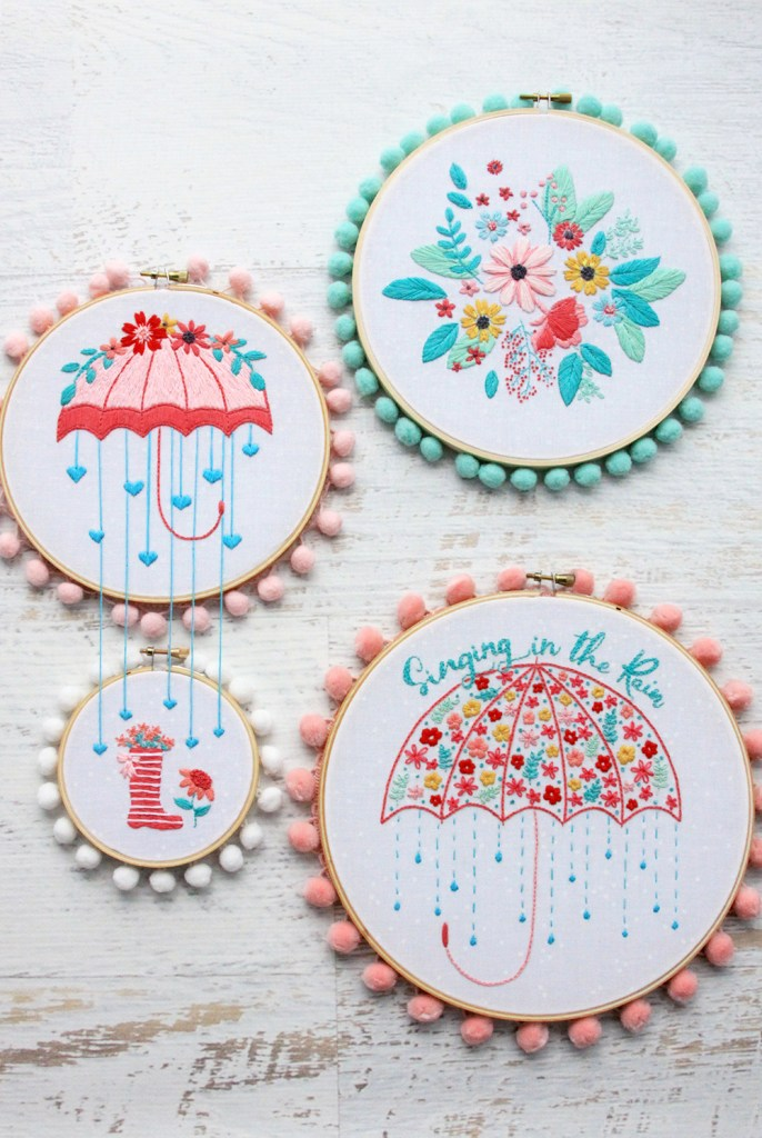 Singing in the Rain Embroidery Collection by Beverly @ Flamingo Toes.